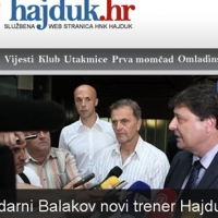 Балъков е новият треньор на Хайдук