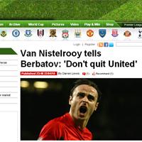 Нистелрой посъветва Бербатов да не си тръгва
