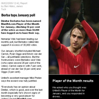 Манчестър Юнайтед прекрати гласуването, Бербатов е първи