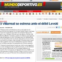 """""""Мундо Депортиво"""": Виляреал срещу """"el debil Levski"""""""