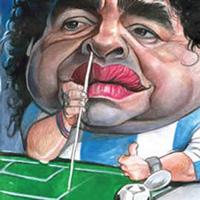 """Уругвайска певица """"пяла"""" на Марадона"""