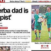 Бащата на Бербо е изнасилвач, гръмна таблоидът Сън