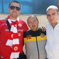 Феновете на ЦСКА и Ботев не се бият в Коматево, нормални с нормалните