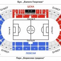 Схема на разпределение, график и места за продажби, цени на билетите за ЦСКА-Левски