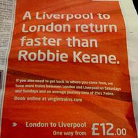 Британска железница блъсна Роби Кийн