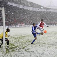 Много сняг, два гола и първо място за АЗ Алкмаар в Холандия