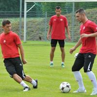 Вуич и Орлинов с  първа тренировка за ЦСКА, медиите в Австрия отразяват събитията