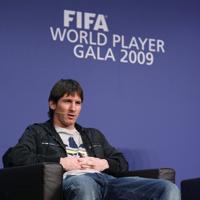 ФИФА короняса Лионел Меси за 2009-а