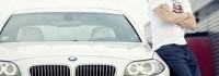 Футболист на ЦСКА тунингова колата си в бяло