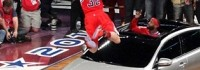 Kia прави реклама с баскетболна забивка